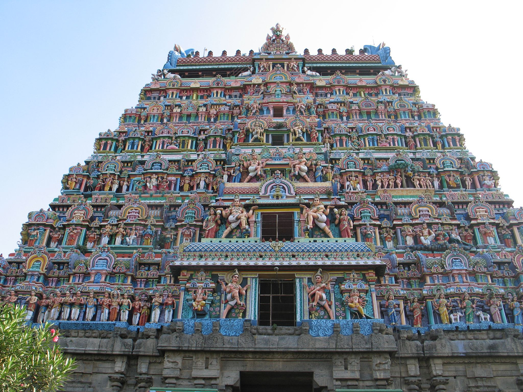 Gopuram of Chidambaram Temple, TamilNadu, India