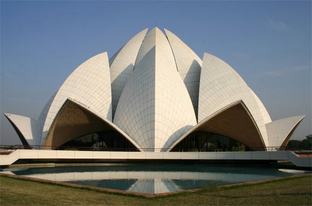 Bahai or the Lotus Temple Delhi India